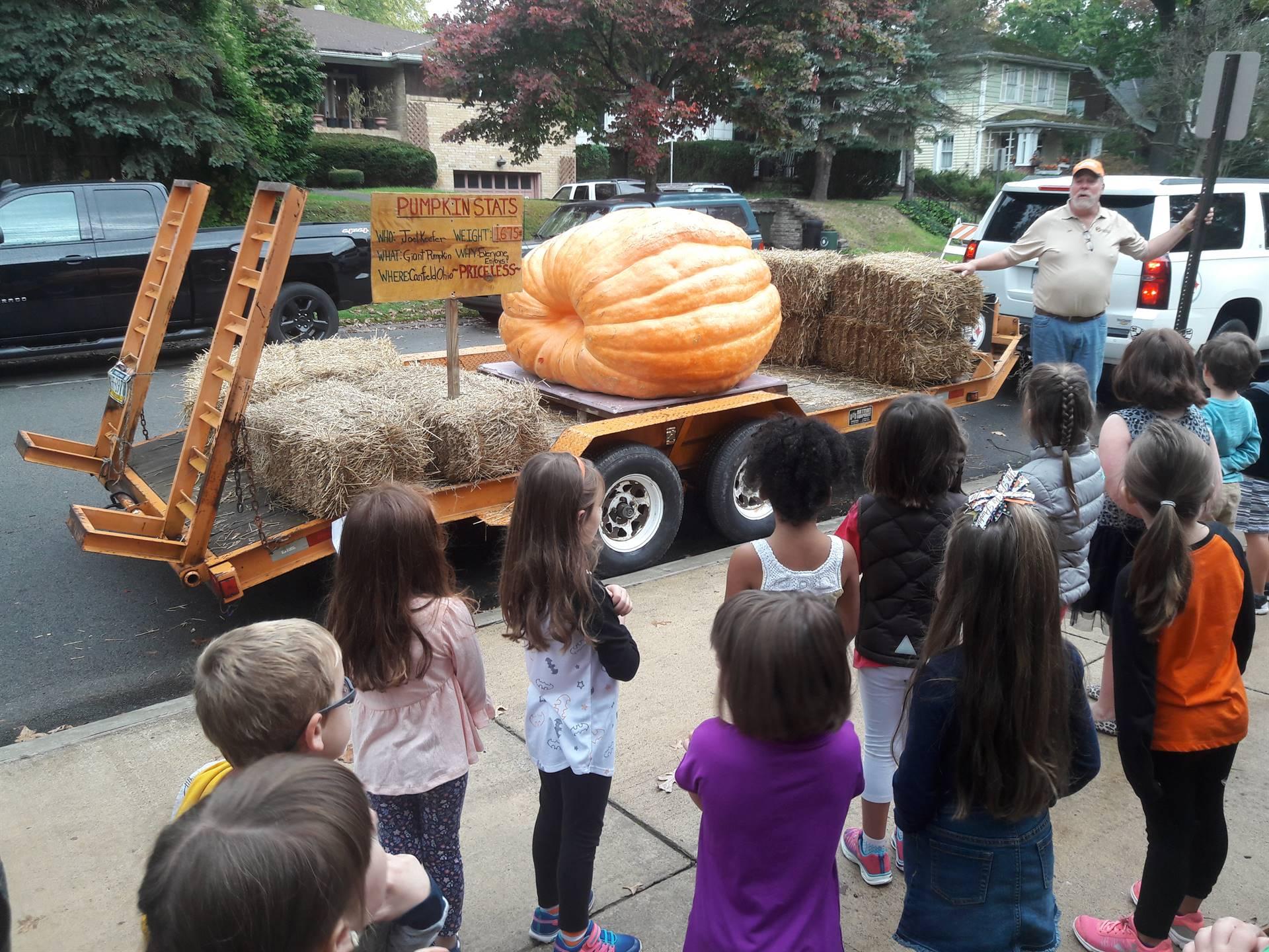 Kindergarten and the Biggest Pumpkin Ever!