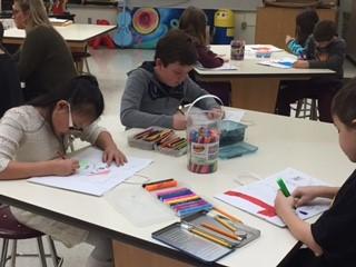 Art Class Creates Holiday Cards for Home Instead Senior Care