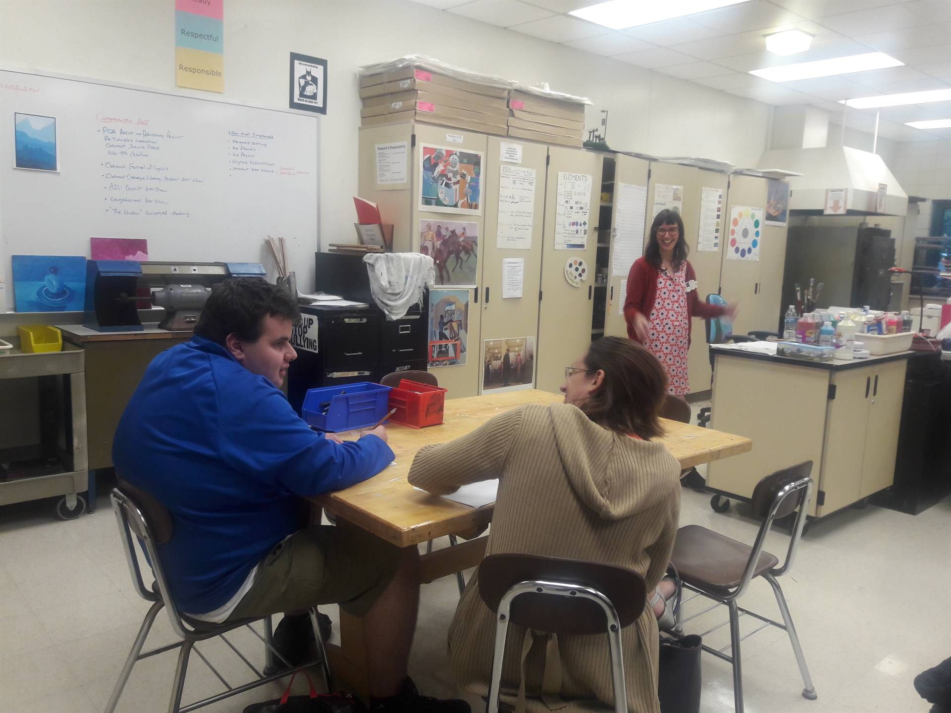 Classroom Lesson with Teaching Artist, Laura Jean McLaughlin on Teamwork