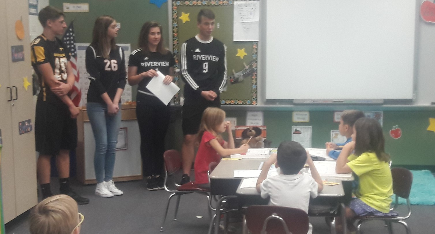 HS Athletes Visit Elementary Schools