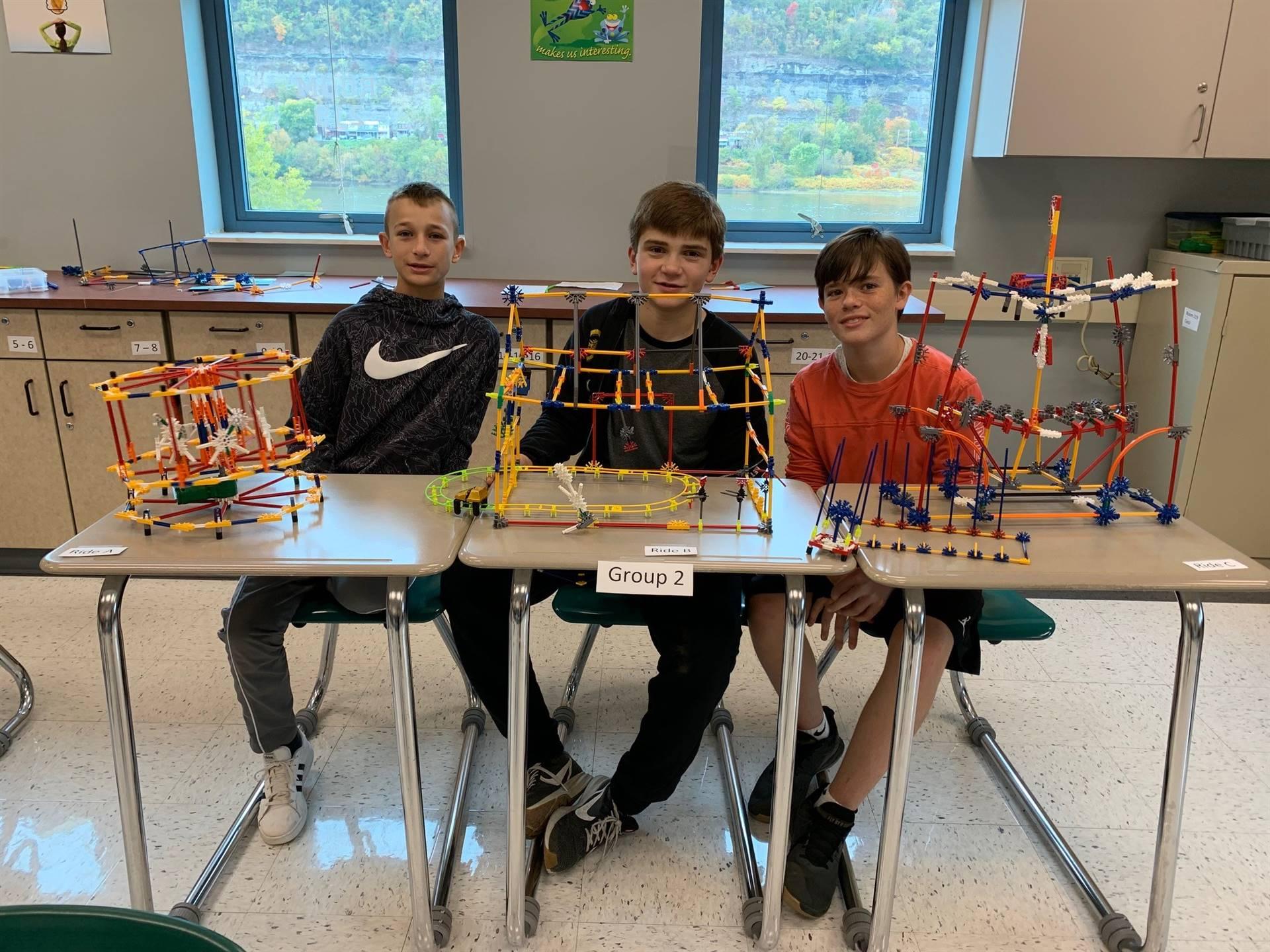 7th Grade STEAM Class Creates Amusement Park Rides