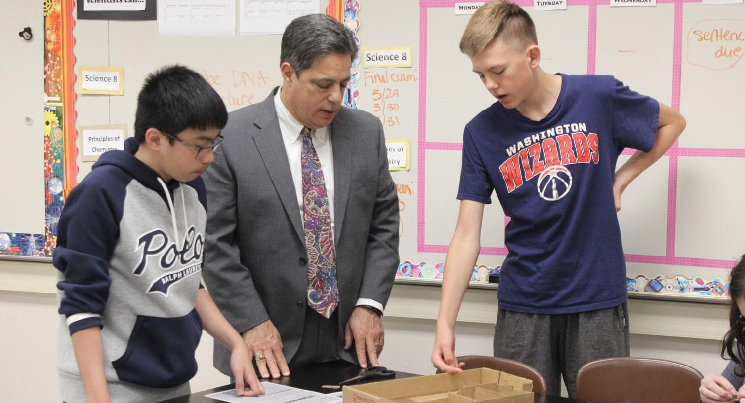 Senator Costa Visits Riverview Jr Sr High School
